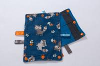 Suck Pads - Raccoon/blue & grey stripe reversible