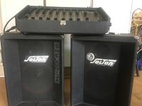 zvočniki in mešalna miza / speakers and mixer