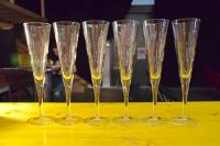 6 flutes a champagne en verre