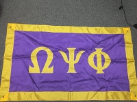 Greek Letter Flag: Omega Psi Phi Fraternity, Inc.