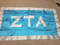 Greek Letter Flag: Zeta Tau Alpha Fraternity