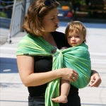 Didymos Lime Waves Ring Sling