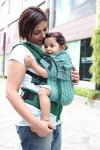 Soul Slings Full Buckle Carrier Toddler Emerald on Green