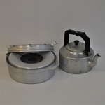 Camping baking kit and kettle