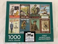 Jigsaw puzzle; 1000 pieces, First World War Recruitment