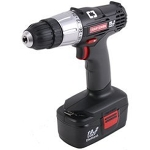 drill/driver, cordless, w/ flashlight, charger, and battery, 19.2V