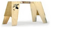 "Sawhorse - set of 2 (wood) 24"""