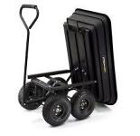 Gorilla Black Plastic Dump Cart