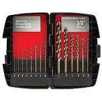 Drill Bit Set, 14 Piece, high speed twist