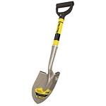 """round shovel with short 24"""" shaped handle."""