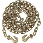 Tow Chain, Heavy duty, with grab hooks - 7'