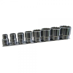 "Socket set, SAE, 8 pc - 1/4"" drive"