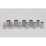 "Socket set, SAE, 11 pc - 1/4"" drive"