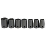 Socket set, 7 pc, 1/4""