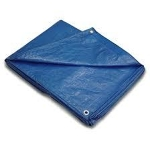 Blue Tarp, Polyethylene 8 x 10 feet