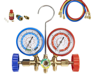 Air Conditioner Manifold set with hoses for home and auto