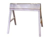 Sawhorse, folding, metal - set of 2