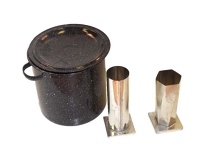 Candle making kit, 10 molds and supplies
