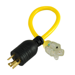 Extension Cord Converter - 3 prong to L5-30