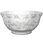 Glass Punch Bowl with 23 Cups