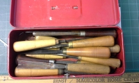 Chisel / gouge set, wood