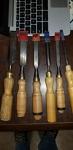 6 pc wood chisel set