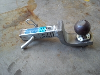 """At-H-01: receiver trailer hitch (1 1/4 """" ) with 2"""" ball"""