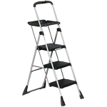 4 step, step ladder with tray