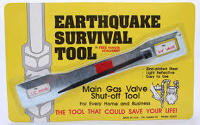 Earthquake survival tool, gas valve shut off