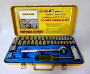 40 piece metric & SAE socket set