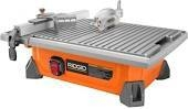 RIDGID 7 in. Job Site Wet Tile Saw