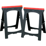 blk & red plastic Folding Sawhorse