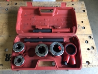 "Pipe threader set BSPT 3/8"", 3/4"", 1"", 1 1/4"" (no 1/2)"