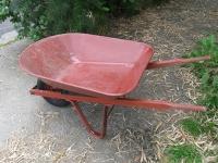 Wheel barrow, red