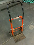 Orange Hand Truck w/ Black Handle
