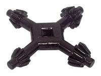 Chuck key, 4-sided