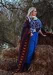 Ali Dover Hygge Blue Woven Wrap 5