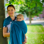 Beco Gathered Ring Sling Turquoise