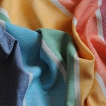 Girasol Rainbow Herringbone Gathered Ring Sling