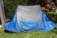 Instant Pop-Up Tent: Blue, grey trim