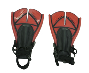 Bodyboard Fins - U.S. Divers - Size L (US 10-14) - Red
