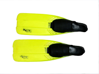 Snorkelling Fins - Mirage Moray - Adult - Lime Blade, Black feet