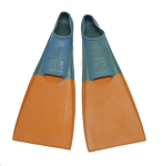 Floating Dive Fins - Eyeline - Large - Orange blade / turquoise foot