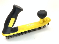 Wire Brush (Yellow Plastic Double-Handle)