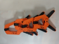 Clamps: Spring clamps - Heavy duty: Set of 4: Orange (2)