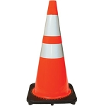 Orange PVC Reflective Traffic Safety Cone 28 inch
