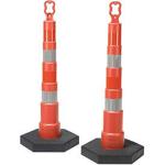 Orange PVC Traffic Safety Post [2]