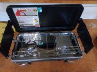 Camping stove - 2 burner with built in toaster