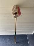 Scrub brush & squeegee - long handle
