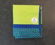 Dekbedovertrek Prémaman groen/blauw 100cm x 130cm babybed